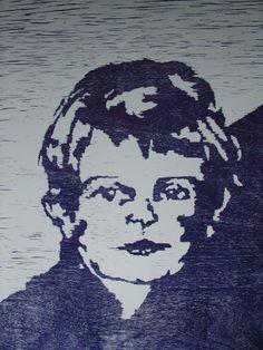 Caroline Bruijnel 50x70 cm houtsnede op papier.