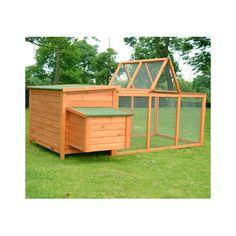 Aosom Pawhut Wood Chicken Coop Rabbit Hen House Nest Huge Run Backyard Poultry Cage & Reviews | Wayfair