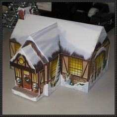 Christmas Cottage Free Building Paper Model Download
