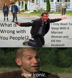 Rick and Shane - The Walking Dead funny meme