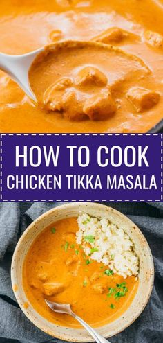 Homemade chicken tikka masala recipe: authentic chicken curry dinner made from scratch on stovetop. The restaurant style sauce is the best - creamy & spicy with garam masala. It's tasty Indian food th Tikka Masala Sauce, Garam Masala, Best Chicken Tikka Masala Recipe, Chicken Masala, Chicken Curry, Indian Food Recipes, Asian Recipes, Healthy Recipes, Tika Massala