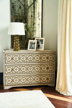 Set in a period townhouse; the theme revolves around dark décor, with jewel colours bringing warmth to the moody, atmospheric setting. Neutral Bedrooms, Jewel Colors, Desk Storage, Neutral Colour Palette, Dresser As Nightstand, Ivory White, Furniture Collection, Chest Of Drawers, Leather Sofa