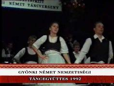 Gyönki Német Nemzetiségi Táncegyüttes1992. Archívum Pandora, Tv, Television Set, Television
