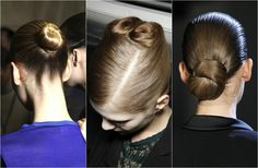 Wedding hair: bridal up'dos bun chignon knot smooth pinned up low do