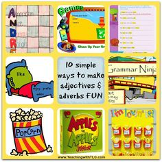 Teaching with TLC: 10 simple ways to make adjectives and adverbs FUN!...