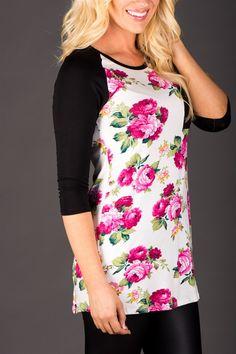 Floral Raglan Tunic! | Jane