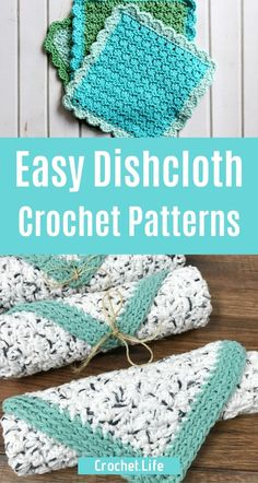 30 Crochet Dishcloth Patterns that you will want on your kitchen sink - don't miss this list! So many amazing easy crochet patterns, intricate crochet patterns, and beautiful options for dishcloths! Crochet Rug Patterns, Crochet Designs, Crochet Home Decor, Diy Crochet, Crochet Christmas Trees, Christmas Crafts, Crochet With Cotton Yarn, Crochet Wall Hangings, Kitchen Sink