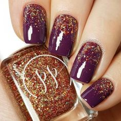 autumn nails 54 Stylish Fall Nail Designs and Colors Youll Love fall nails glitter - Fall Nails Fancy Nails, Love Nails, Pink Nails, Glitter Nails, Pretty Nails, Color Nails, Matt Nails, Gradient Nails, Pink Glitter