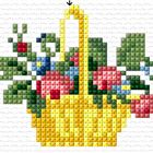 This Pin was discovered by Γεω Cross Stitch Fruit, Cross Stitch Kitchen, Mini Cross Stitch, Cross Stitch Needles, Cross Stitch Borders, Cross Stitch Rose, Cross Stitch Alphabet, Cross Stitch Flowers, Cross Stitch Designs