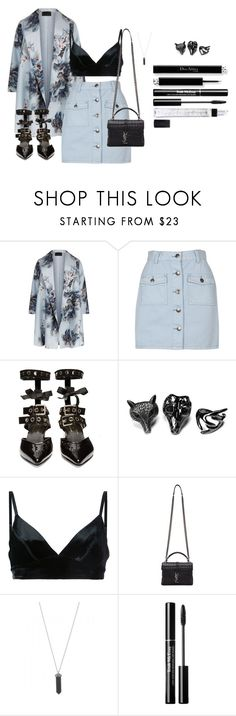 """""""Untitled #296"""" by katiemarte ❤ liked on Polyvore featuring Marina Rinaldi, MINKPINK, Robert Clergerie, Friis & Company, Manning Cartell, Yves Saint Laurent, Karen Kane and Illamasqua"""