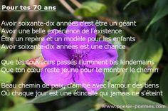 Poeme 70 Ans Message Pour Les Soixante Dix Ans Anniversaire