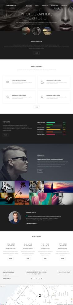 Photographer Portfolio is a beautiful, creative responsive website template that is best suited for Art Portfolio, Photo Galleries, Freelancers, and other Creative purposes. The #Photographer #Website #Template is very flexible and comes loaded with dozens of smart features that provide for quick and easy customization.
