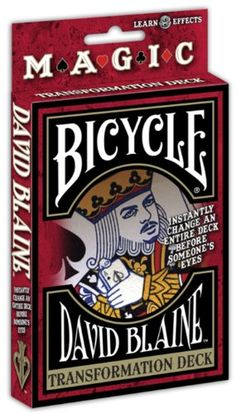 Bicycle David Blaine Transformation P… Card Deck, Deck Of Cards, Bicycle Playing Cards, Ad Art, The Magicians, David, Fun, Outdoors, Toys