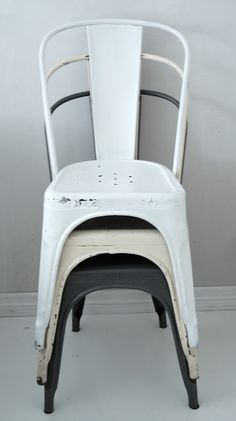 vintage {industrial} metal chairs