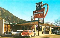 North Bend WA Gateway Drive-In Cafe Restaurant Old Cars Photograph
