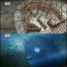 titanic glass dome then and now. Titanic Art, Titanic Poster, Titanic Wreck, Real Titanic, Titanic Photos, Titanic Ship, Titanic History, Titanic Underwater, Titanic Survivors