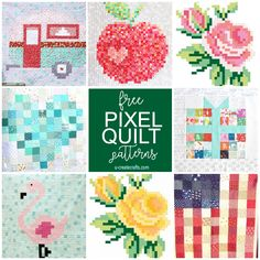Beautiful Image of Pixel Crochet Pattern Pixel Crochet Pattern Free Pixel Quilt Tutorials U Create Layer Cake Quilt Patterns, Charm Pack Quilt Patterns, Layer Cake Quilts, Charm Pack Quilts, Jelly Roll Quilt Patterns, Modern Quilt Patterns, Quilt Patterns Free, Modern Quilting, Bead Patterns
