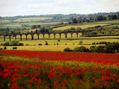 Welland Viaduct, also known as Harringworth Viaduct and Seaton Viaduct, is a railway viaduct which crosses the valley of the River Welland between Harringworth in Northamptonshire and Seaton in Rutland, England.