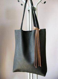 VENTA nuevo precio más bajo bolsa bolso de cuero negro