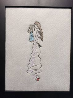 """Unique Embroidery Digital File Forever Mine Collection """"Mother & Daughter """" Mothers Day by NicolaElliott on Etsy"""