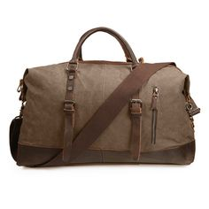 ECOSUSI Vintage Canvas Sport Tote Gym Bag Overnight Shoulder Bag Weekend Travel Duffel Bag ** Check out this great product. (This is an Amazon Affiliate link and I receive a commission for the sales)