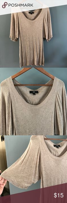 Short sleeve sweater Lightweight, great for office to after work. Fun flowing sleeves. Mossimo Supply Co Sweaters