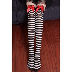 Black Striped Strawberry Decor Stockings ($9.99) ❤ liked on Polyvore featuring intimates, hosiery, tights, socks, black, stripe tights, striped pantyhose, striped tights, striped stockings and embellished tights