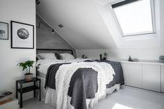 Scandinavian attic bedroom