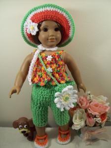 "Spring has Sprung - 18"" doll - Free Original Patterns - Crochetville"