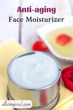 Powerful antioxidant rich DIY anti-aging Face Moisturizer will help you to keep skin hydrated, free from wrinkles, age spots, scars, and dark circles. Anti Aging Cream, Anti Aging Skin Care, Maybelline, Bb Cream, Skin Cream, Natural Face Moisturizer, Natural Skin, Homemade Moisturizer, Natural Beauty