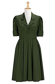 Retro poplin shirtdress Save up to 30% Off at eShakti with Coupon and Promo Codes.
