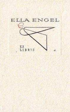 EXLIBRIS BOOKPLATE 1962 DENMARK CHRISTIAN BLAESBJERG ANGEL 9X5CM X 823