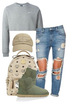 """""""Untitled #202"""" by simoneswagg on Polyvore featuring MCM, NIKE, UGG Australia, Lovers + Friends, women's clothing, women, female, woman, misses and juniors"""