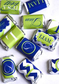 It's A Boy Baby Shower PRINTABLE Mini Candy Bar Wrappers from Love The Day on Etsy, $8.00
