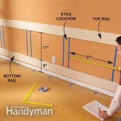 Photo 3: Tack the horizontal rails