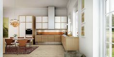 uno form's craftsman kitchens - A Danish furniture classic Danish Kitchen, New Kitchen, Kitchen Ideas, Kitchen Inspiration, Kitchen Maker, Old Apartments, White Laminate, Danish Furniture, Kitchen Design