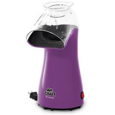 West Bend Air Crazy Corn Popper, Purple (Discontinued by Manufacturer) Hot Air Popcorn Popper, Air Popper, Specialty Appliances, Small Appliances, Kitchen Appliances, Kitchen Gadgets, Kitchens, Purple Kitchen Accessories, West Bend