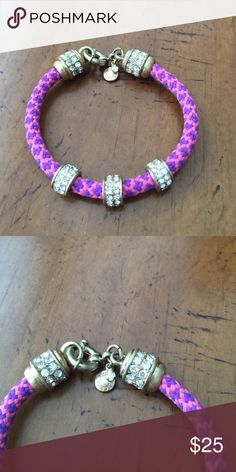 J.CREW BRACELET Purple and Pink Rope Bracelet with Gold and Rhinestone detailing!!!! J. Crew Jewelry Bracelets