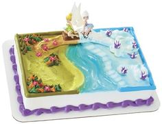 Tinkerbell/Periwinkle cake. Can order from HEB...could use for Frozen theme too if they made it all winter.