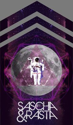 Space Moon by Sascha & Rasta  Grey Tank Tshirt by SaschaLovesRasta, $18.00