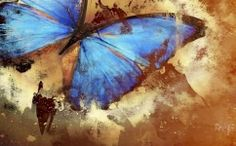 Startonight Canvas Wall Art Butterfly Abstract Turquoise, Butterfly USA Design for Home Decor, Dual View Surprise Artwork Modern Framed Ready to Hang Wall Art X Inch Original Art Painting! Abstract Canvas, Canvas Wall Art, Canvas Prints, Abstract Paintings, Butterfly Painting, Blue Butterfly, Butterfly Canvas, Art Pastel, Painting Inspiration