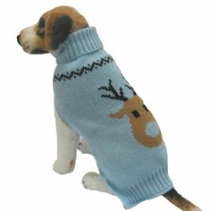 Medium Dog Sweater, Voberry® Dog Clothes Pet Winter Woolen Sweater Knitwear Puppy Clothing Warm Deer Head High Collar Coat ** See this great product. (This is an Amazon affiliate link)