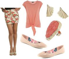 Image from http://cloud2.collegefashion.net/wp-content/uploads/2011/05/floral-skirt-pink-accessories.jpg.