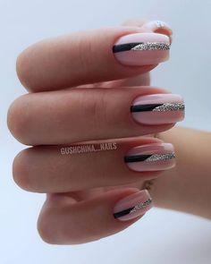 ❤️ ⠀ By ⠀ ⠀ ⠀ ● ○ ● ○ ● # beautiful nails # design nails # perfect glare # perfect manicure Stylish Nails, Trendy Nails, Cute Nails, Lynn Nails, Art Deco Nails, American Nails, Square Nails, Perfect Nails, Nail Manicure