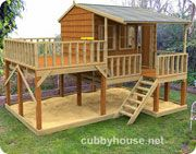 Timbertop Mansion Cubby House Australian-Made Wooden Playground DIY Kits