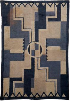 French Deco Rug by D. - European deco Rug - Vintage Rug - by Doris Leslie Blau Motif Art Deco, Art Deco Rugs, French Vintage, Vintage Rugs, French Art, Bauhaus, Art Nouveau, Art Deco Furniture, Furniture Styles