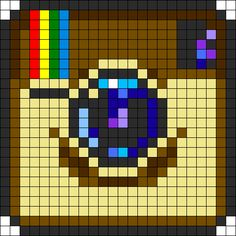 Instagram Logo Perler Bead Pattern | Bead Sprites | Misc Fuse Bead Patterns