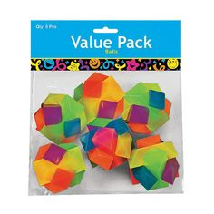 Pack of 6 Vinyl Brick Balls - FE13596393