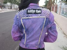 Purple Spiked Punk Jacket