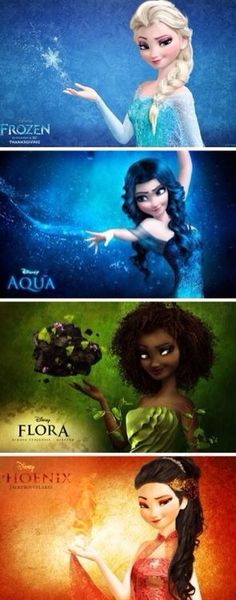 Different forms of queen Elsa